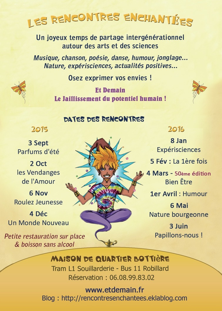 Rencontres enchantees 2016
